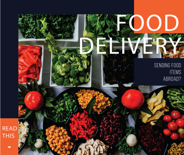 sending food abroad